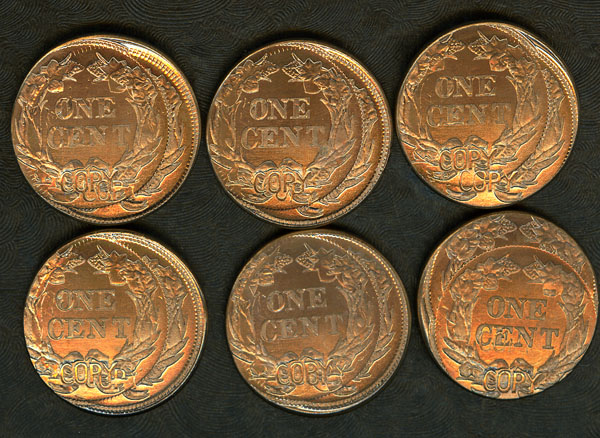 Six Different 1856 Flying Eagle Repros Double Struck